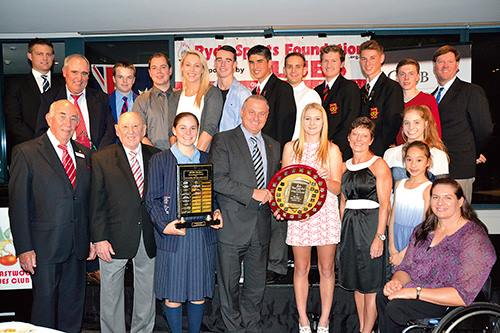 Photo of awardees at the 2013-2014 Gala Sports Star Dinner on Friday 2 May 2014