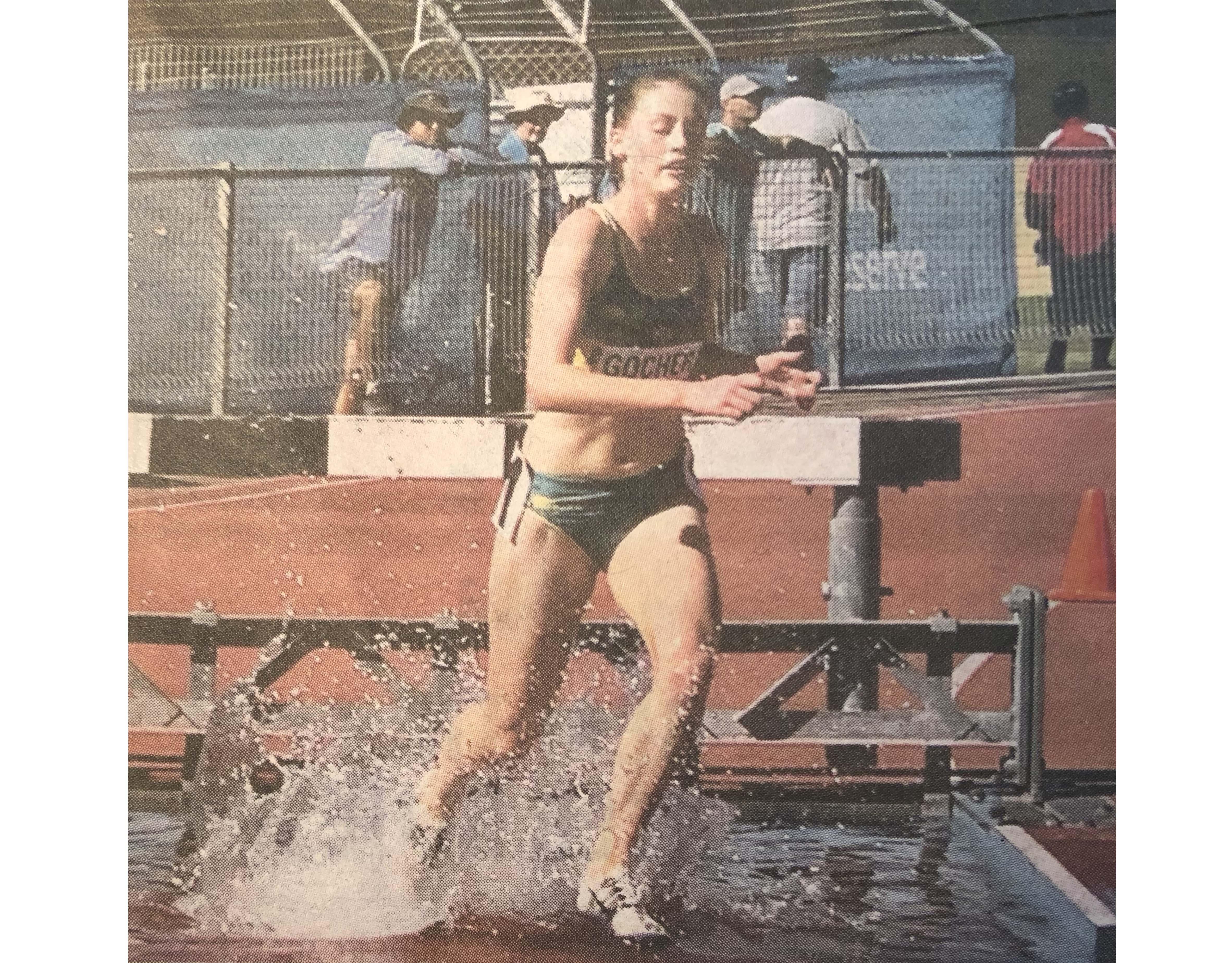 Sophie Gocher representing Australia in steeplechase at 2019 Oceania Championships copyright TWT 31 Jul 2019